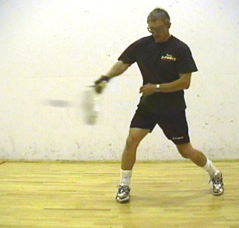 how to hit the ball in racquetball
